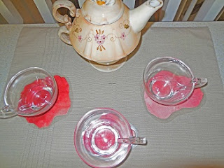 tea party using DIY coasters
