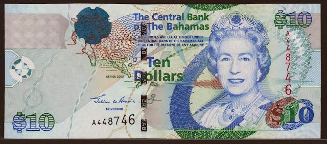 Bahamas Banknotes 10 Dollars banknote 2005 Queen Elizabeth II