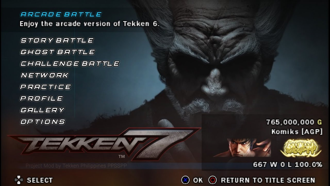 Tekken 7 : FR MOD ISO for PPSSPP Android Devices ! Download now