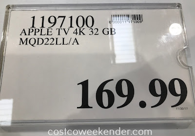 Deal for the Apple TV 4K 32GB (MQD22LL/A) at Costco
