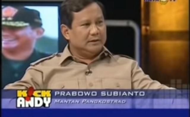 """Viral Tayangan Lawas MetroTV Dialog Ekslusif dengan Prabowo, """"Terlihat Jelas Nasionalismenya"""""""