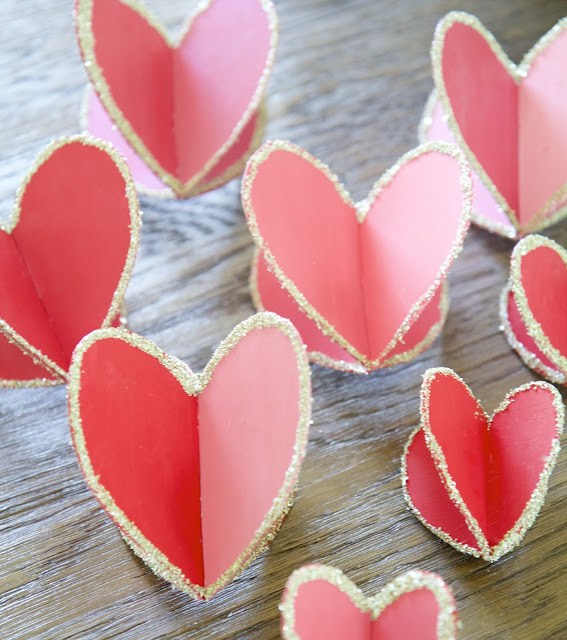 "DIY: ""Hearts-and-Crafts"" for Valentine's Day; 3-D hearts; Nora's Nest"