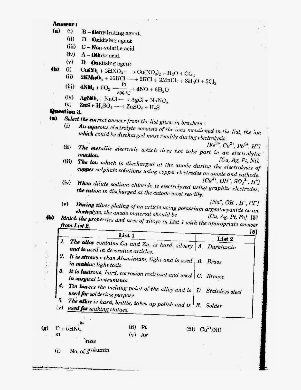 icse class 10th chemistry solved question paper 2012