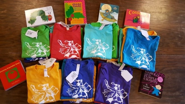 23ee26cd3 Several years ago we created a special toddler tee featuring one of the  illustrations of renowned local artist and bookseller Aaron Boyd, author of  Luigi ...