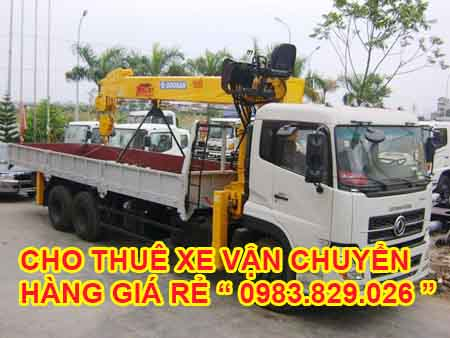 cho thuê xe chuyên vận chuyển hàng hóa nặng
