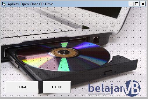 Source Coding Aplikasi Buka Tutup CD Drive - CD Rom