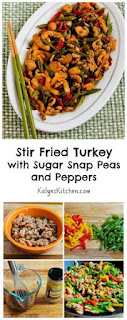 Stir Fried Turkey (or chicken) Recipe with Sugar Snap Peas and Peppers [from KalynsKitchen.com]
