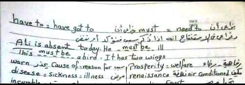 بخط اليد مراجعة جرامر اللغة الإنجليزية لـ امتحان الثانوية العامة 20016 فى 12 ورقة 4