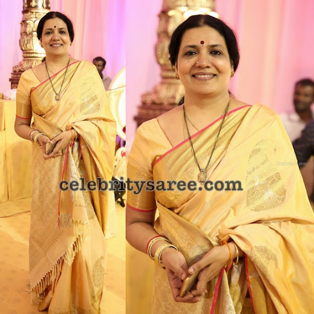 Jeevitha Gold Silk Saree