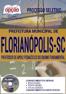 Apostila concurso Prefeitura de Florianópolis 2016 Professor Auxiliar