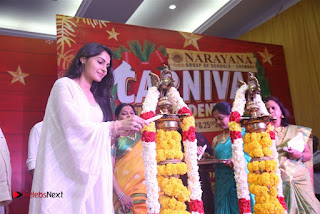 Tamil Actress Singer Andrea Stills in White Salwar Kameez at Narayana Group of Schools Carnival Inauguration  0008.jpg