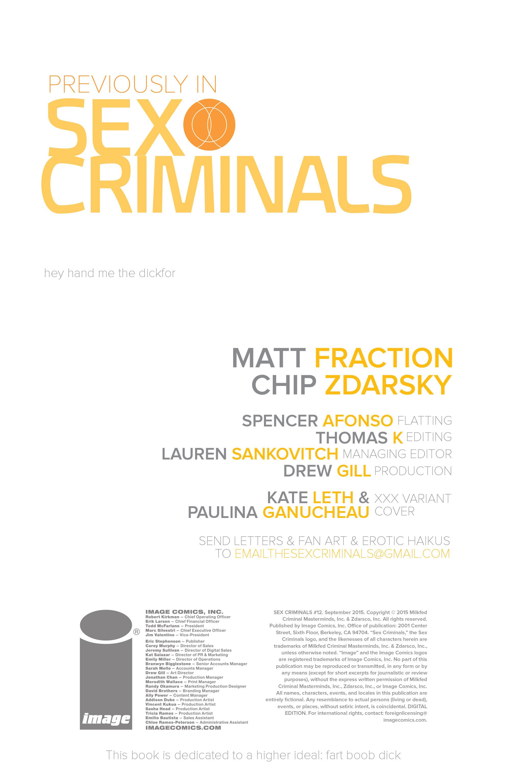Read online Sex Criminals comic -  Issue #12 - 2