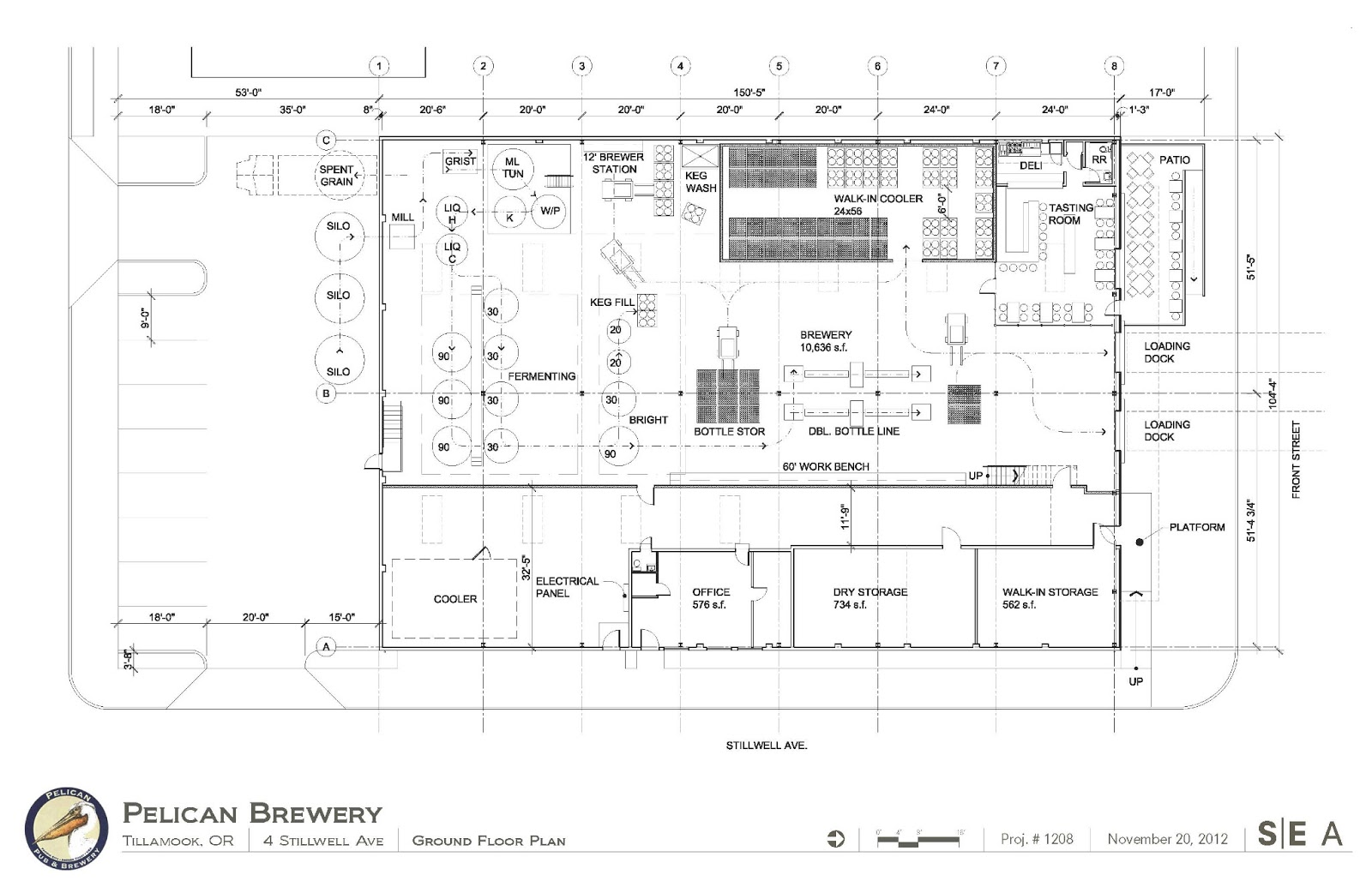 Pelican brewery 39 s new tillamook location plans and for Brewery floor plan