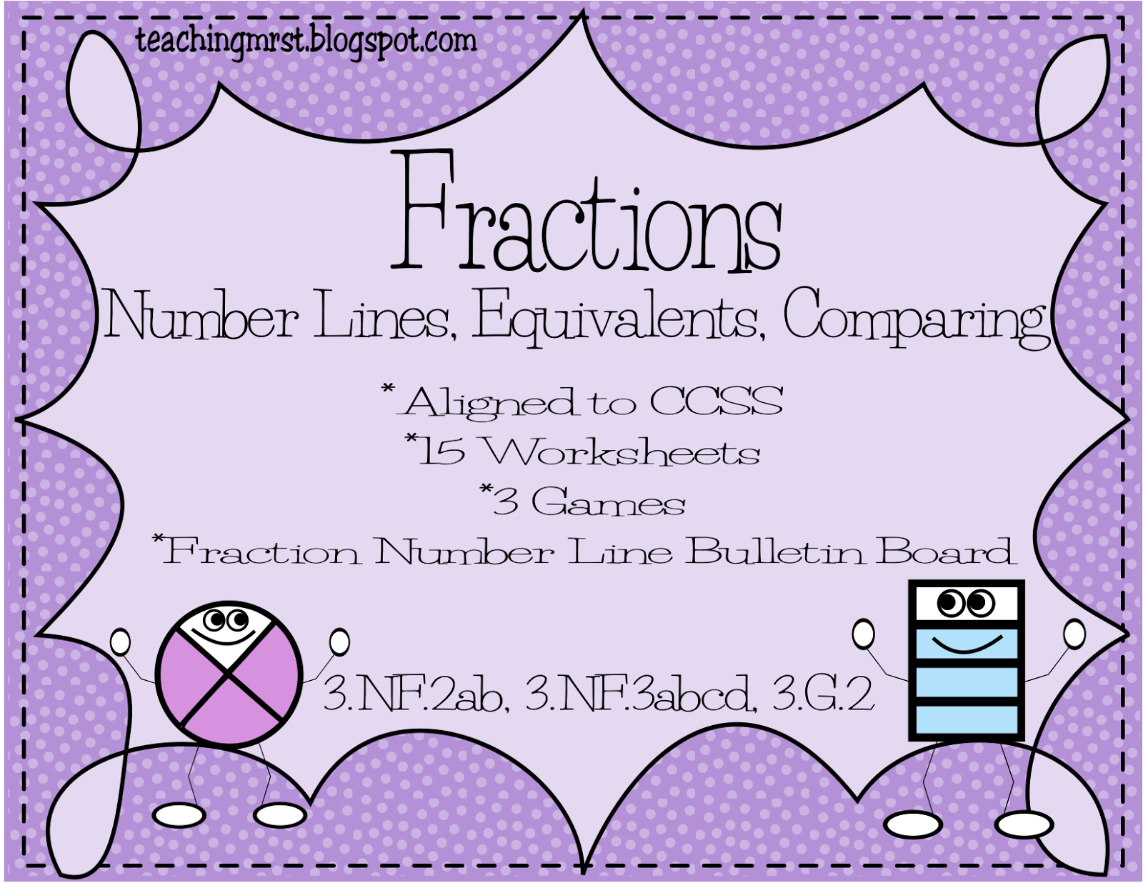 Comparing Fractions On A Number Line Worksheet