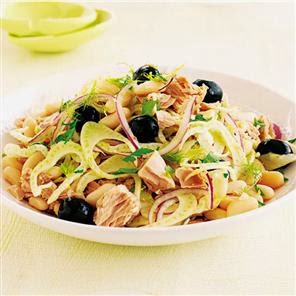Tuna White Bean Fennel Salad with Orange Vinaigrette Recipe | Healthy Tuna Recipe
