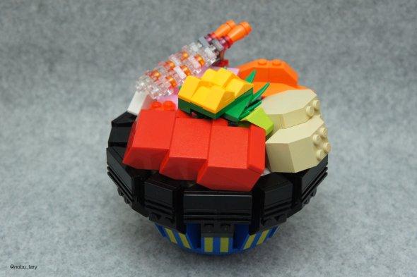nobu_tary flickr esculturas de lego comidas bento marmita japonesa