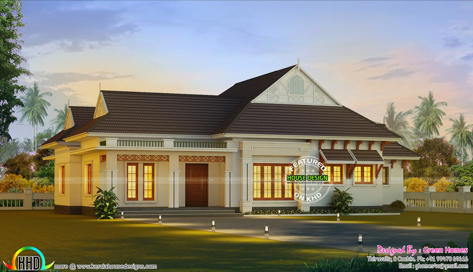 Superior nalukettu house architecture kerala home design for Single floor house plans kerala style