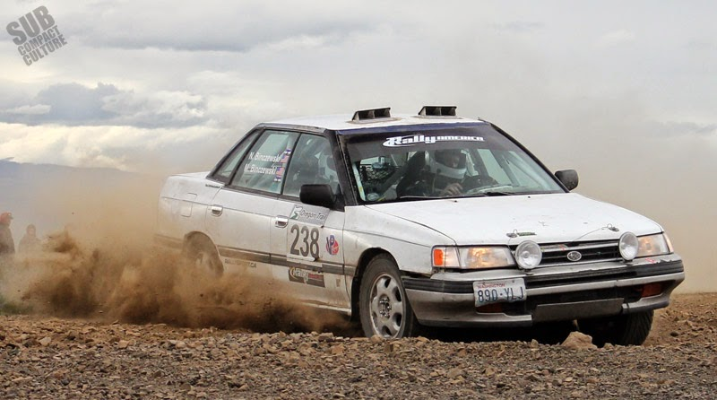Subaru Legacy rally car at Oregon Trail Rally