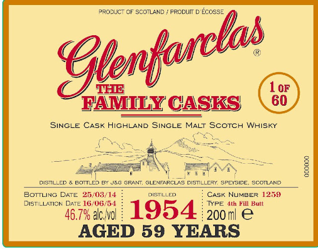 Glenfarclas The Family Casks 59-Year Single Cask Highland Single Malt Scotch Whiskey