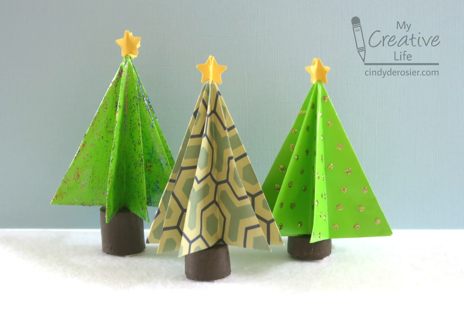 cindy derosier my creative life origami christmas trees