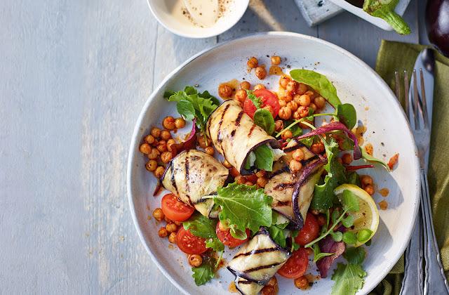 Aubergines / Egg Plants Health Benefits and Recipe Ideas Aubergine-rolls-with%2Bhalloumi