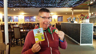 The winner of our match got a very nice Holey Molies Mini Golf medal
