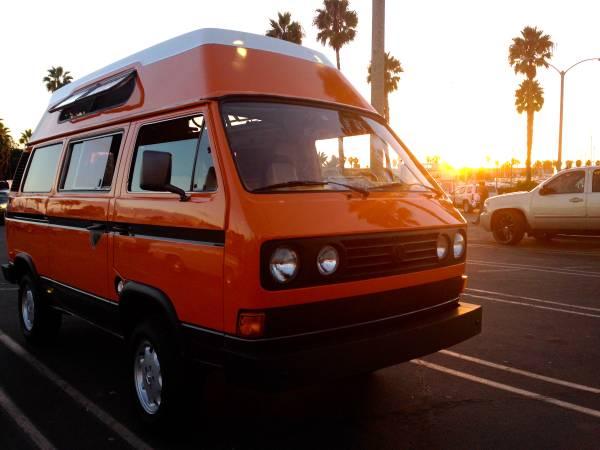 1982 Volkswagen Vanagon High Top Camper Vw Bus Wagon