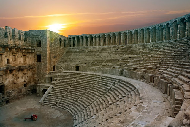 Teatro de Aspendos em Antália, na Turquia