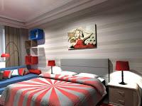 Wände Kreativ Streichen Schlafzimmer