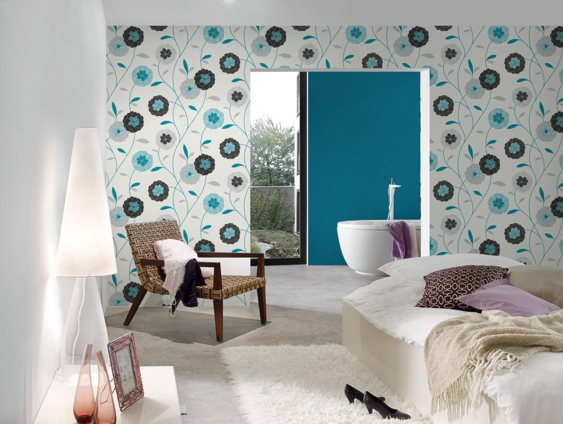 Dormitorios primaverales con papel pintado me gusta el - Papel para dormitorio ...