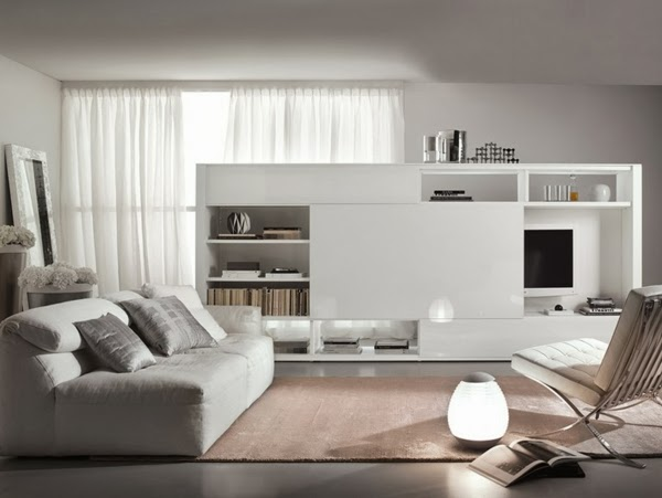 Sala estilo moderno con t.v