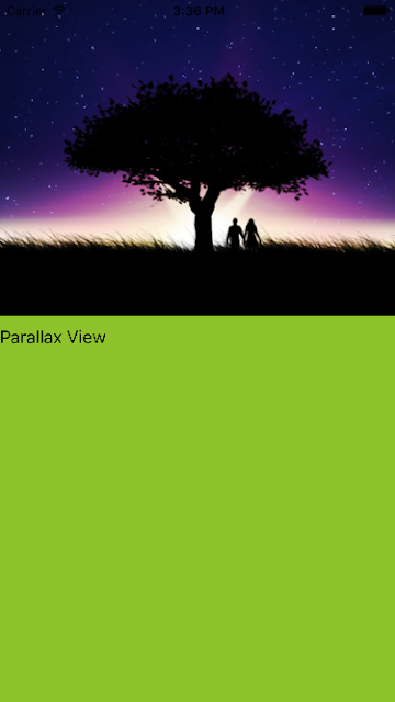 Parallax scroll view in iOS