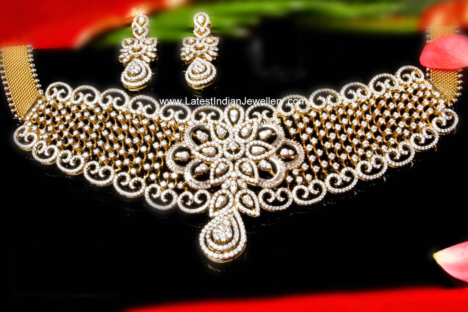 Exclusive Indian Diamond Choker Set