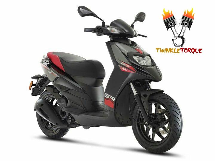 Aprilia SR 150 black twinkle torque