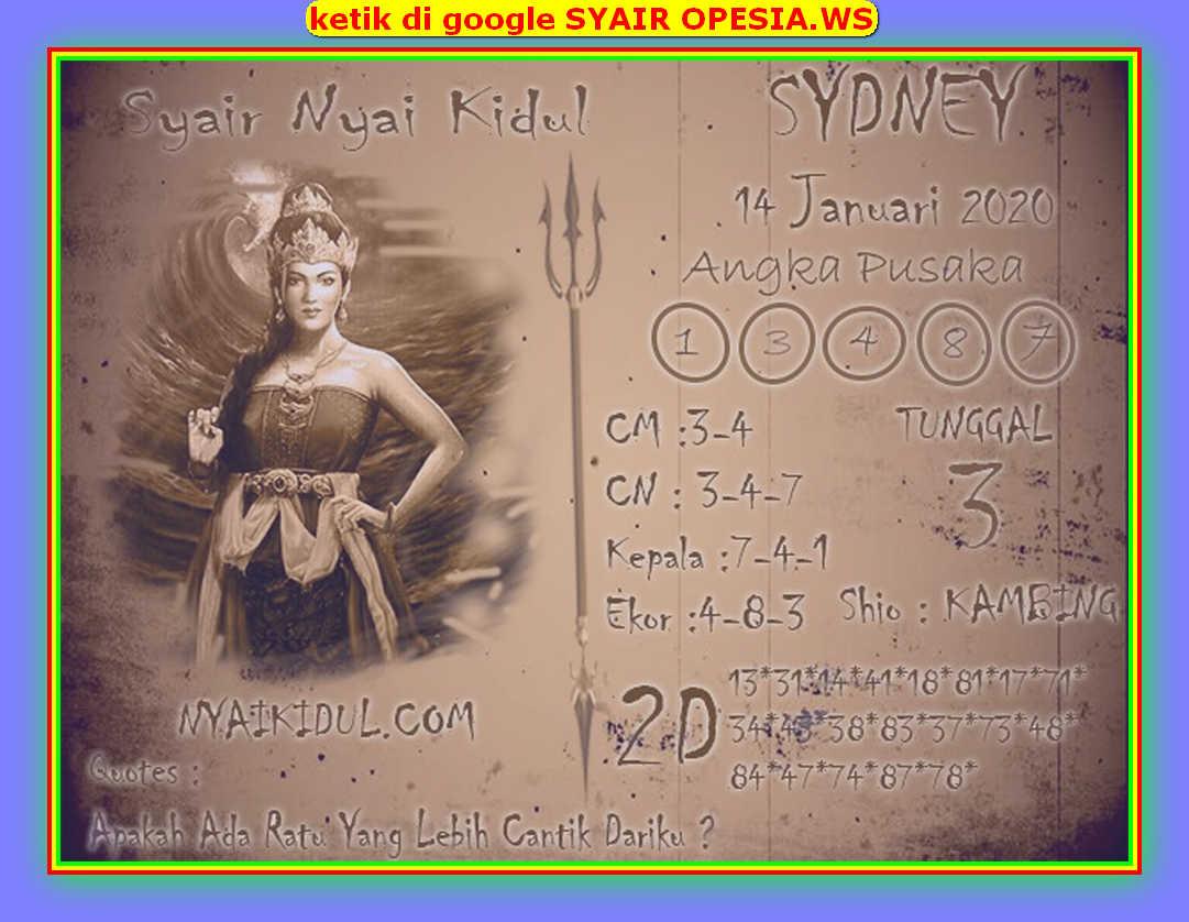 Kode syair Sydney Selasa 14 Januari 2020 118