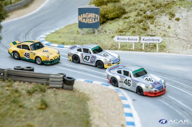 Slotcar Porsche 911 RSR Martini Racing Sunauto 24 hrs. Le Mans 1973