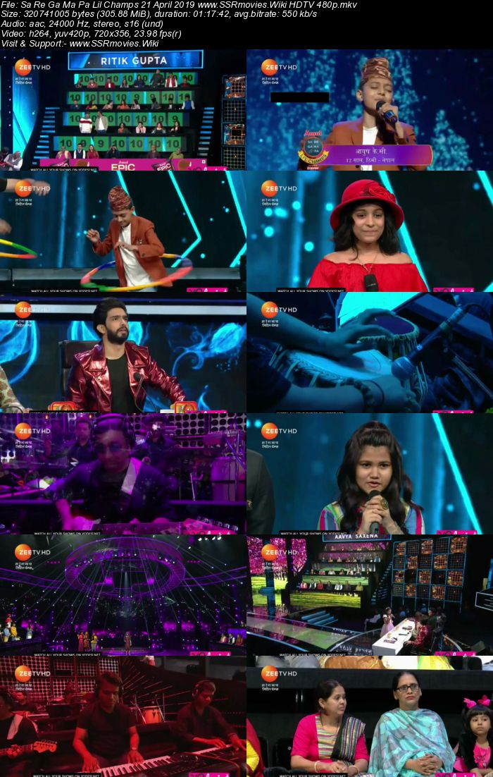 Sa Re Ga Ma Pa Lil Champs 21 April 2019 Full Show Download