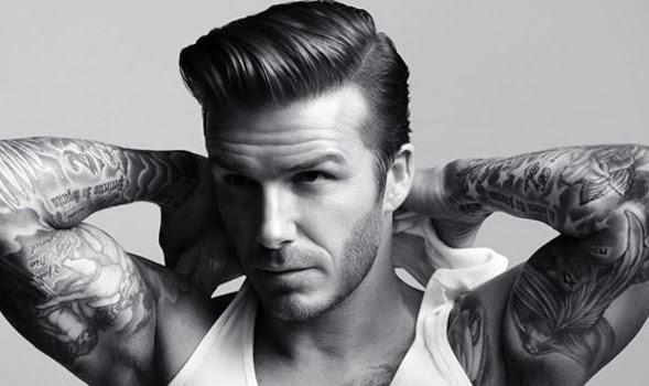 Gambar model Rambut Pompadour dari Beckham