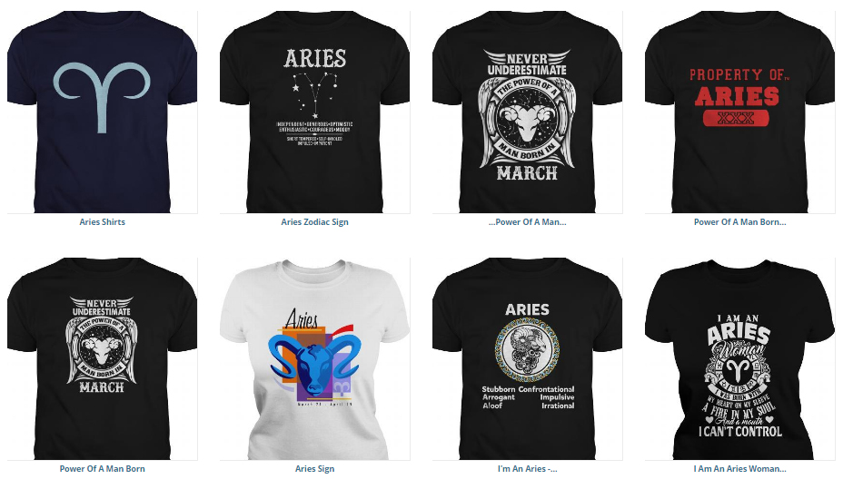 a042b13afee2f4 99+ Aries Zodiac Sign T-shirt Collection