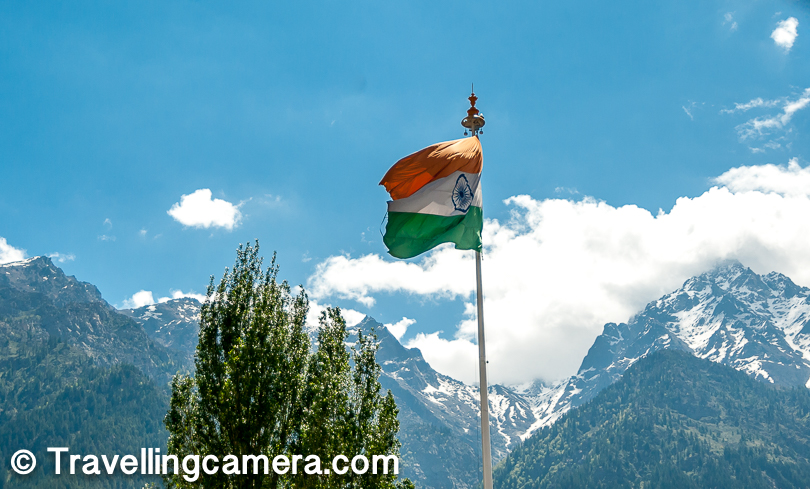 There is a this huge flag installed in Rekong Peo. Not sure if we can call it one of the highest Indian flag at high altitude.