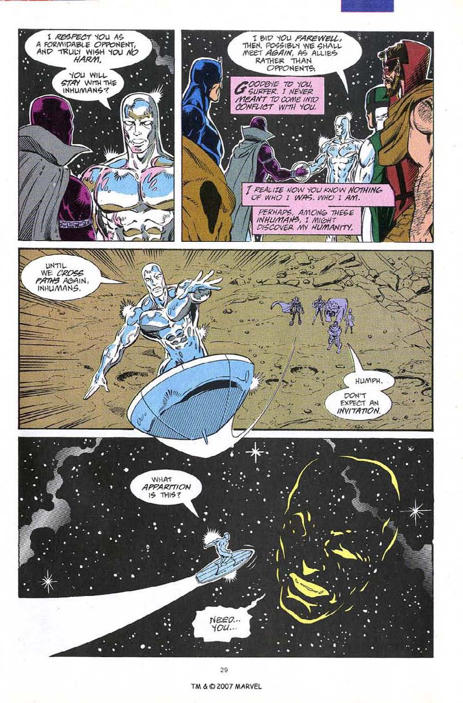 Read online Silver Surfer (1987) comic -  Issue #60 - 31