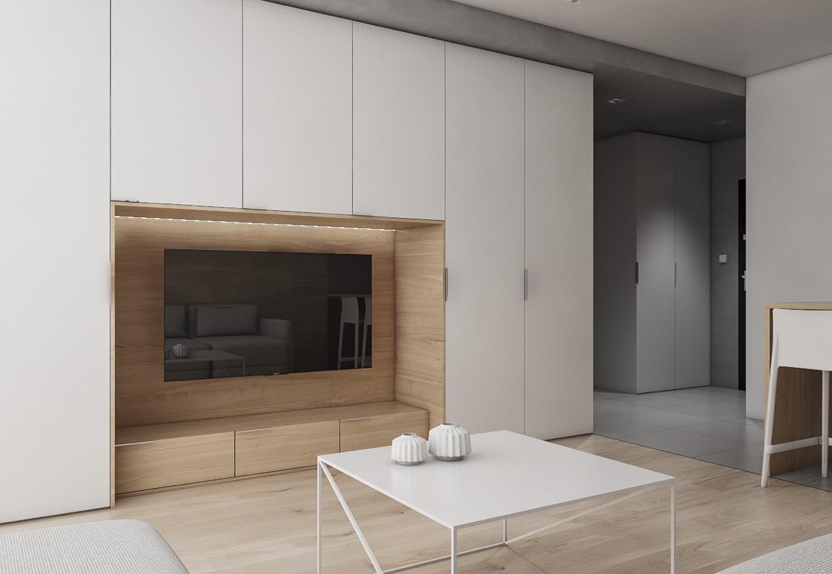 50 gợi ý trong thiết kế nội thất, trang trí tường treo TV