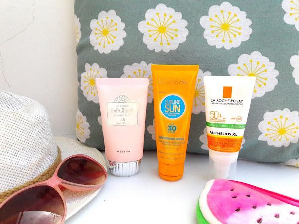 Sun, beach, sunscreen