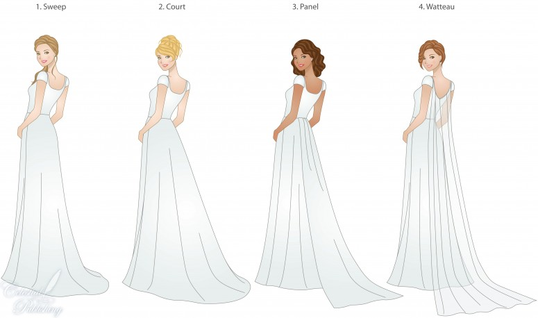 Wedding Gown Styles: LITTLE STATION: Wedding Trains, Guide To Style, Type, And