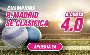 wanabet supercuota 4 Real Madrid se clasifica final champions league codigo JRVM + 150 euros 4 mayo