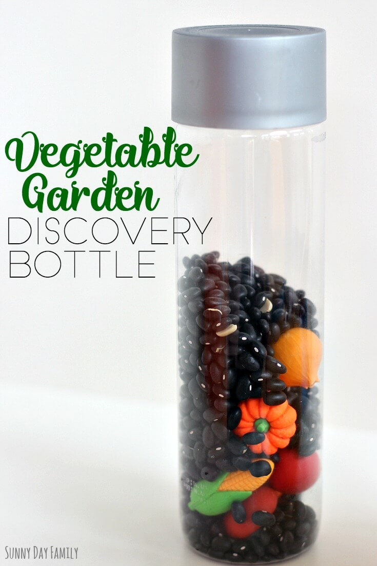 Make a mini vegetable garden in a bottle! This fun garden activity for kids is great to learn about how vegetables grown and to encourage healthy eating. Perfect for a preschool garden unit or to learn about nutrition! Love how cute this is and it is so easy to make.