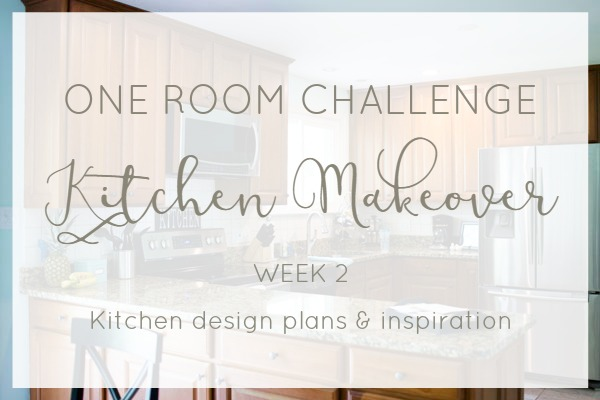 One Room Challenge farmhouse kitchen makeover- Our design plans and inspiration