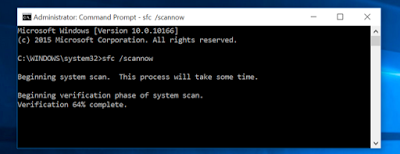 How to perform system file check on windows 10