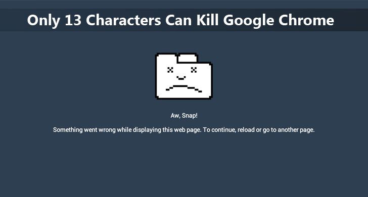 This String of 13 Characters Can Crash your Chrome on a Mac