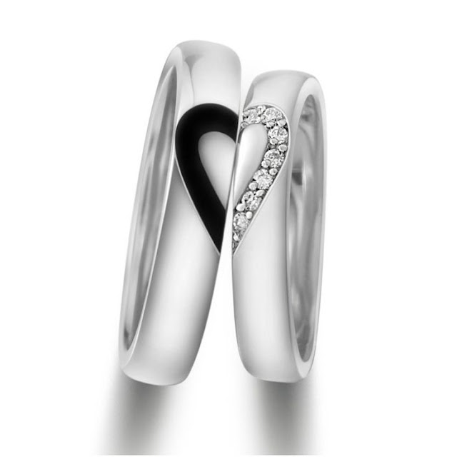 Valentines day Heart shape rings(Jewels) for lovers, gift